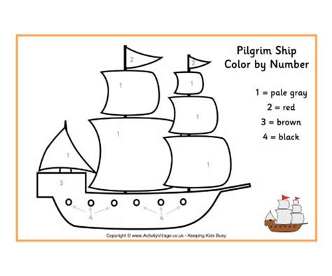 How To Draw A Pilgrim Boat by Thanksgiving Coloring Pages