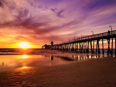 Imperial Beach California Sunset Stock Image