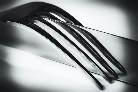 photo knife fork mirroring black  image