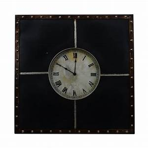 shop decor therapy analog square indoor wall clock at With kitchen cabinets lowes with wall art with clock