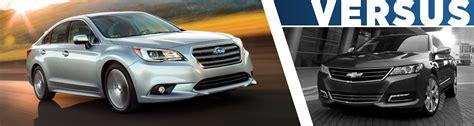 2016 Subaru Legacy Vs Chevy Impala Model Comparison Vs