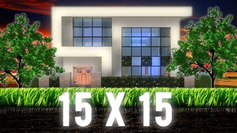 minecraft  modern house hd youtube