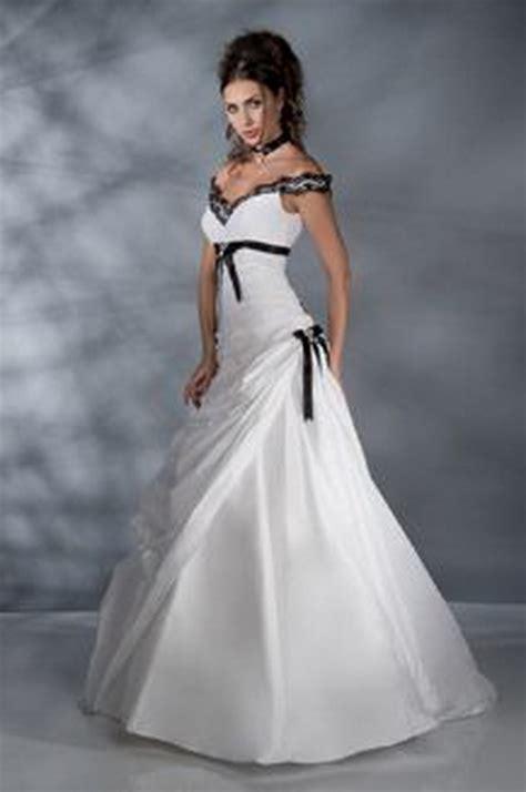 robe de mariage noir et blanche robe mariee noir et blanc