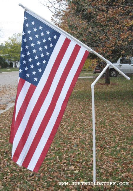 the pvc flag pole project part four get the flag on