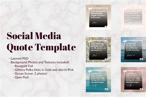 social media quote template templates creative market