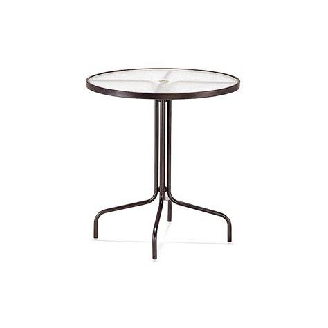 36 dia bar umbrella height table acrylic top with