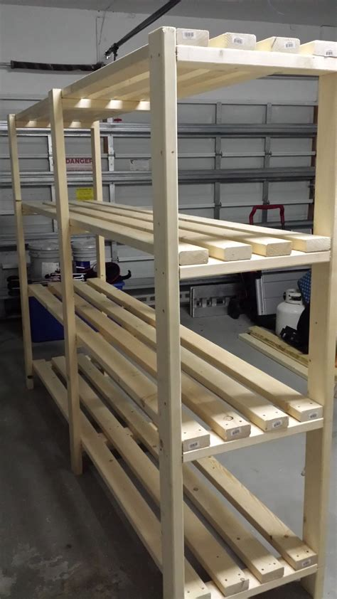 Shelving Projects by Great Plan For Garage Shelf Do It Yourself Home
