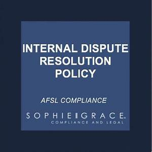 afsl internal dispute resolution policy template With dispute resolution policy template