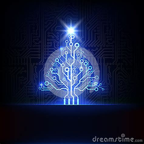 vector electronic christmas tree royalty  stock images