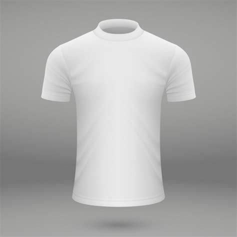 blank white  shirt template premium vector
