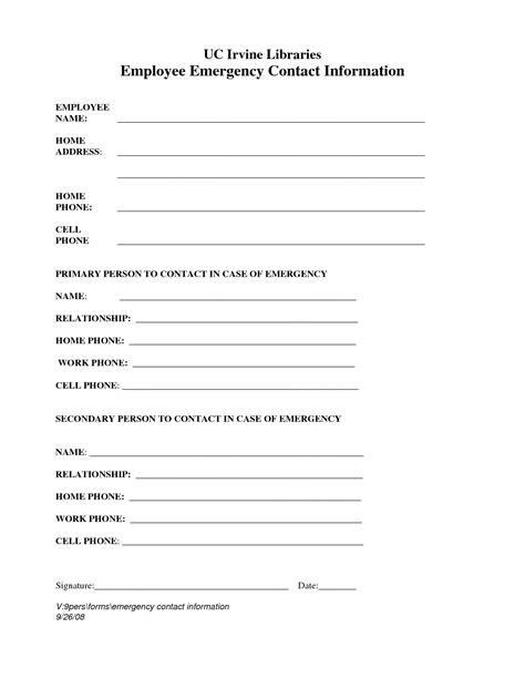 template for contact information funeral service program