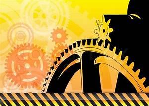 Construction Background With Big Cogwheel