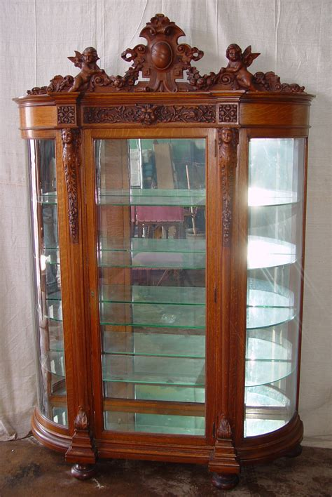 oak china cabinets for du06155600cocc oak china cabinet with cherubs memory