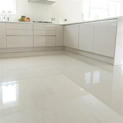 Large White Tiles Flooring  Tile Design Ideas