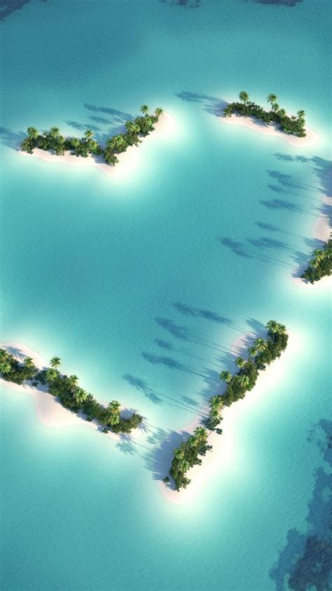 wallpaper heart island love heart hd  world