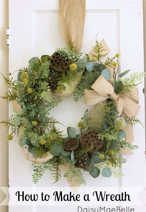 how to make a natural wreath hometalk