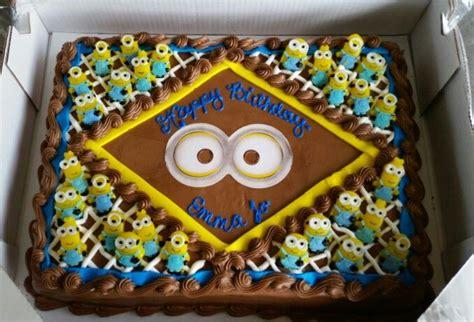 turned  costco cake     minion cake