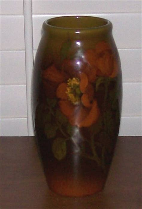rookwood standard glaze floral vase by demarest for sale