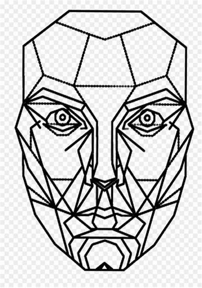 Geometric Face Drawing Drawings Paintingvalley