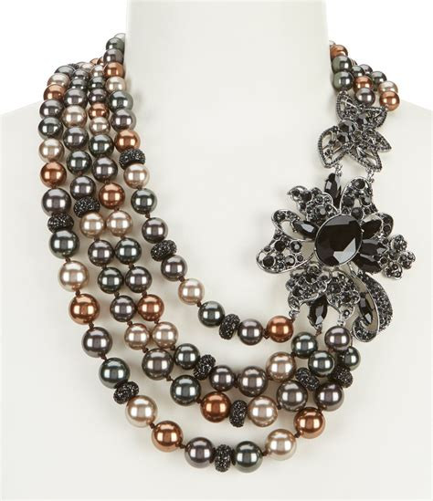 shop  anne klein faux pearl statement necklace
