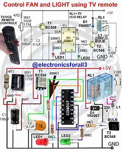 Control Fan And Light Using Tv Remote