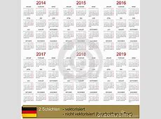 Calendar 20142019 Stock Photography Image 35446262