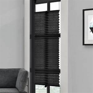 Klemm Jalousie Innen : plissee 70x200cm schwarz ohne bohren falt rollo jalousie klemm halter easy fix ebay ~ Frokenaadalensverden.com Haus und Dekorationen