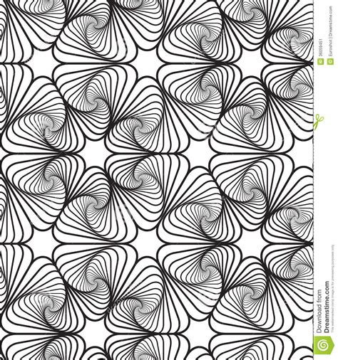 Abstract Vector Design Black And White by Black And White Op Design Vector Seamless Pattern
