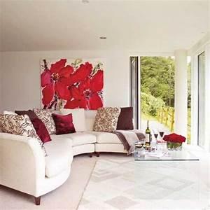 Interior decorating ideas adding bright red color to