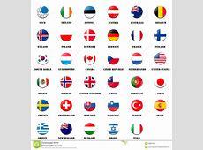 National Flag Ball Of OECD Members Stock Illustration