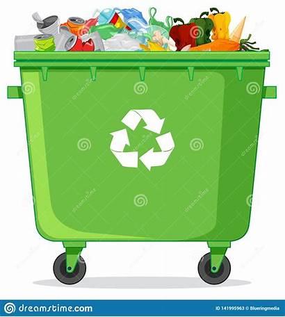 Grabage Recycle Bin Een Poubelle Compartimiento