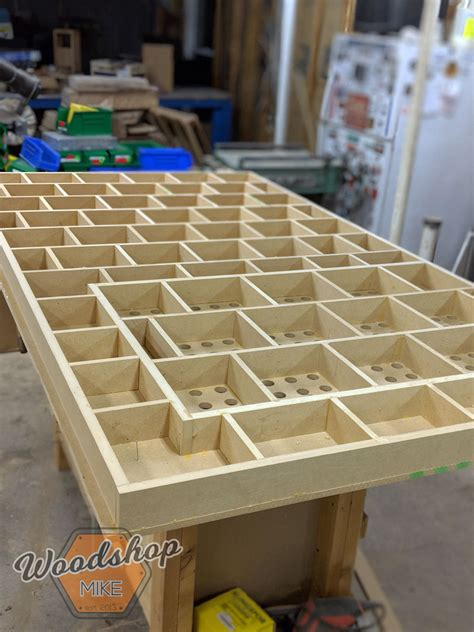 torsion box grid complete diy outfeed workbench woodshop