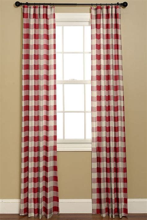 buffalo check curtains in and white p by