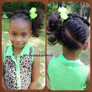 I like these braids to a side pony. Kid Hairstyles