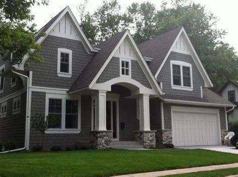 houses grey stucco white trim rock search home
