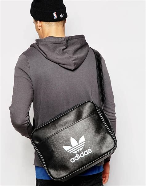 adidas originals airliner messenger bag ab  black
