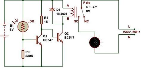 Light Activated Switch Circuit Diy Electronics Ldr