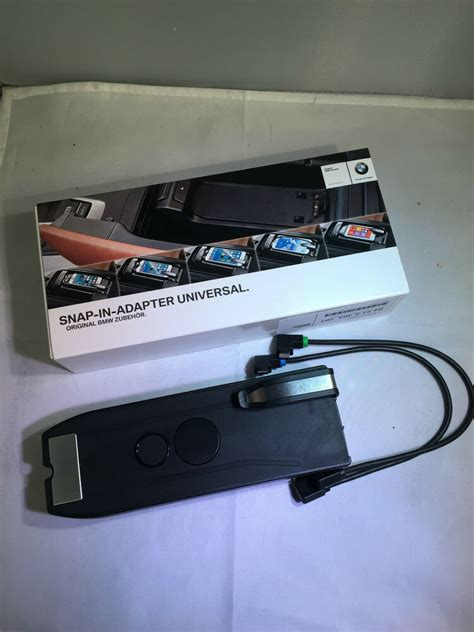 Genuine Bmw Universal Snap In Adapter Phone Dock Cradle For All Micro Usb Phones Ebay