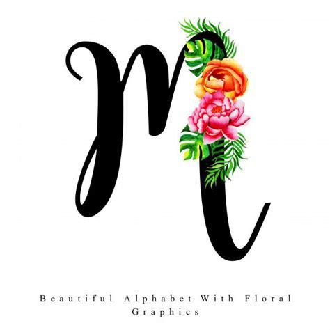 alphabet letter  watercolor floral background alphabet letters design lettering alphabet