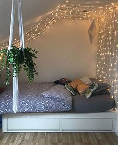 I, Put, Up, These, Fairy, Lights, In, My, Bedroom, With, Push, Pins, Small, Spaces, Attic, Room, Plants