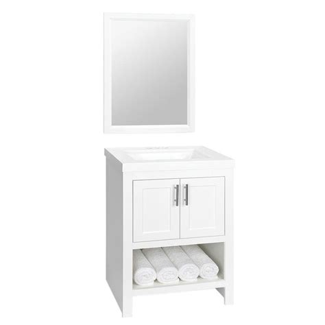 Glacier Bay Bath Vanity Tops by Glacier Bay Spa 24 1 2 In W Vanity In White With Cultured