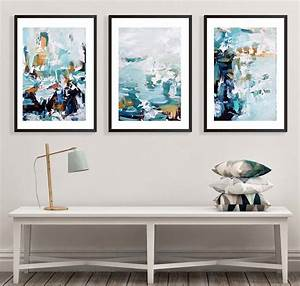 Large, Art, Print, Posters, Set, Of, Three, Framed, Prints, By, Abstract, House