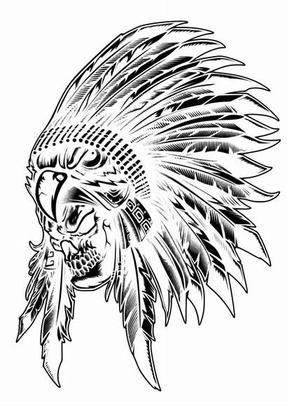 Indian Skull Native American Clip Drawing Eagle