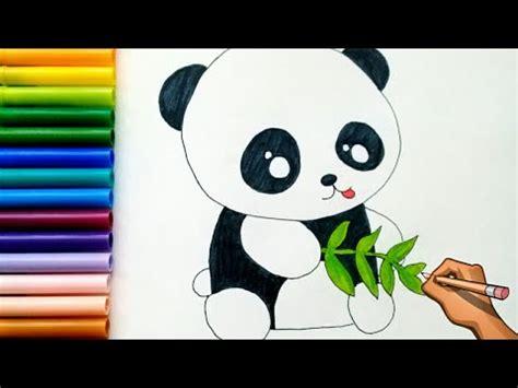 como dibujar  panda   draw  panda bear mary