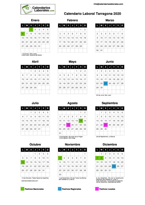 calendario laboral tarragona