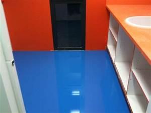 Resine pour sol interieur un revetement pour toutes les for Salle de bain design avec résine décorative pour sol