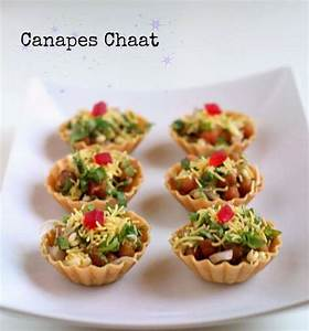 Canapes Chaat Recipe (Indian Canapes Recipe) - WeRecipes