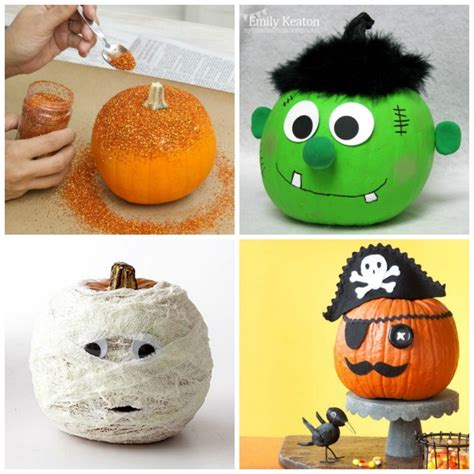 Creative Pumpkin Decorating Ideas by No Carve Pumpkins For Growing A Jeweled
