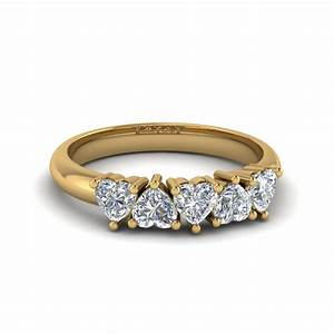 exclusive 5 stone heart shaped band fascinating diamonds With heart wedding rings for women