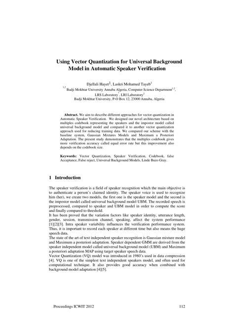 (PDF) Using vector quantization for universal background